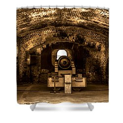 Fort Sumter Famous Cannon Shower Curtain by Optical Playground By MP Ray