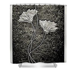 Fossilized Flowers Shower Curtain by Dan Sproul