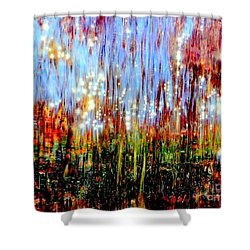 Water Fountain Abstract 3 Shower Curtain by Ed Weidman