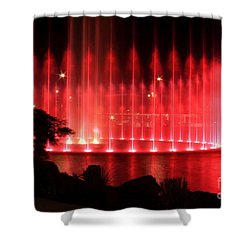 Fountain Of Red Shower Curtain by Geraldine DeBoer
