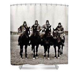 Four Horsemen Shower Curtain by Benjamin Yeager