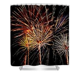 Fourth Of July Fireworks  Shower Curtain by Saija  Lehtonen