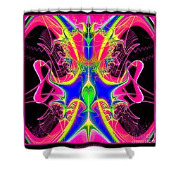 Fractal 15 Color Cacophony  Shower Curtain by Rose Santuci-Sofranko