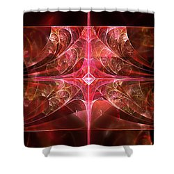 Fractal - Abstract - The Essecence Of Simplicity Shower Curtain by Mike Savad