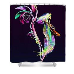 Fractal - Cockatoo Shower Curtain by Susan Savad