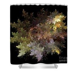 Fractal Flames Shower Curtain by Scott Camazine