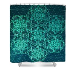 Fractal Interference Shower Curtain by Jason Padgett