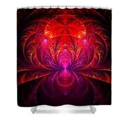 Fractal - Jewel Of The Nile Shower Curtain by Mike Savad