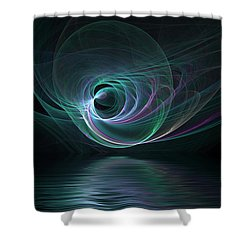Fractal Lake Shower Curtain by Barbara Milton