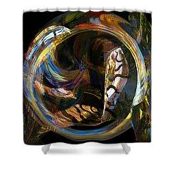 Fractals - Fish Tank Shower Curtain by Susan Savad