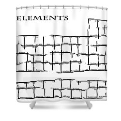 Fractured Periodic Table Shower Curtain by Daniel Hagerman