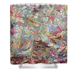 Fragmented Hill Shower Curtain by James W Johnson