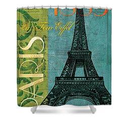 Francaise 1 Shower Curtain by Debbie DeWitt