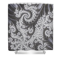 Franciful Frost  Shower Curtain by Heidi Smith