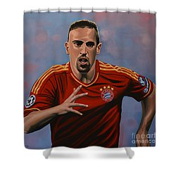 Franck Ribery Shower Curtain by Paul Meijering