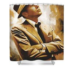 Frank Sinatra Artwork 1 Shower Curtain by Sheraz A