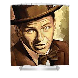 Frank Sinatra Artwork 2 Shower Curtain by Sheraz A