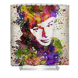 Frank Sinatra In Color Shower Curtain by Aged Pixel