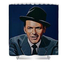 Frank Sinatra Shower Curtain by Paul Meijering