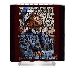 Frank Sinatra - The Songs Shower Curtain by Spencer McKain