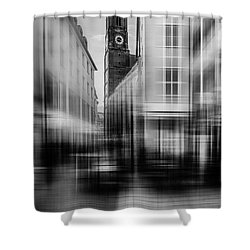 Frauenkirche - Muenchen V - Bw Shower Curtain by Hannes Cmarits