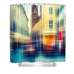 Frauenkirche - Munich V - Vintage Shower Curtain by Hannes Cmarits