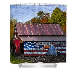 Freedom Is Not Free Shower Curtain by Debra and Dave Vanderlaan
