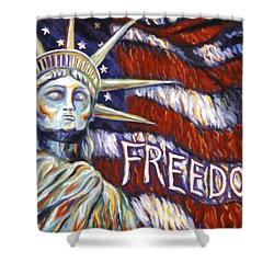 Freedom Shower Curtain by Linda Mears