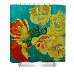 Freesia Shower Curtain by Ana Maria Edulescu