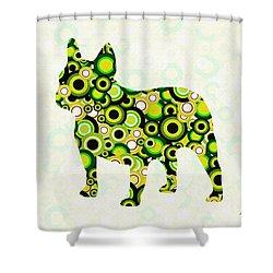 French Bulldog - Animal Art Shower Curtain by Anastasiya Malakhova