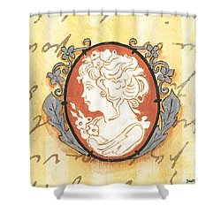 French Cameo 2 Shower Curtain by Debbie DeWitt