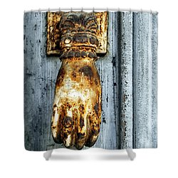 French Door Knocker Shower Curtain by Georgia Fowler