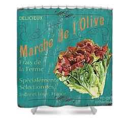 French Market Sign 3 Shower Curtain by Debbie DeWitt
