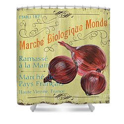 French Market Sign 4 Shower Curtain by Debbie DeWitt