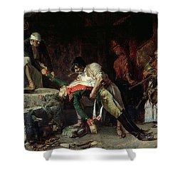 French Occupation Shower Curtain by Eduardo Zamacios y Zabala