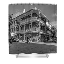 French Quarter Afternoon Bw Shower Curtain by Steve Harrington