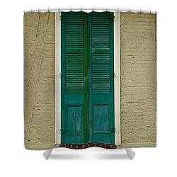French Quarter Door - 15 Shower Curtain by Susie Hoffpauir