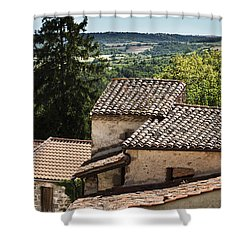 French Roofs Shower Curtain by Georgia Fowler