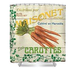 French Veggie Sign 2 Shower Curtain by Debbie DeWitt