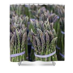 Fresh Asparagus Shower Curtain by Mike  Dawson