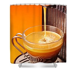 Fresh Espresso Shower Curtain by Carlos Caetano