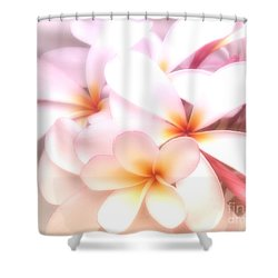 Fresh Frangipani Shower Curtain by Karen Lewis