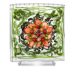 Fresh Fruit Salad Shower Curtain by Anne Gilbert