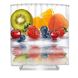Fresh Fruits Shower Curtain by Veronica Minozzi