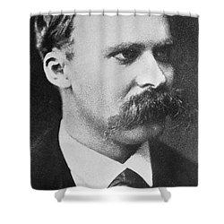 Friedrich Wilhelm Nietzsche Shower Curtain by French Photographer