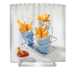 Fries Shower Curtain by Amanda Elwell