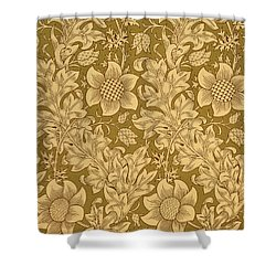 Fritillary Wallpaper Design Shower Curtain by William Morris