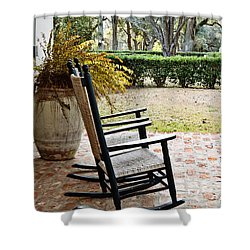 Front Porch Rockers Shower Curtain by Scott Pellegrin