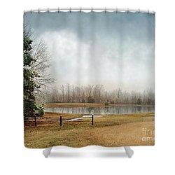 Frostbitten Shower Curtain by Jai Johnson