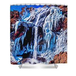 Frozen In Motion Shower Curtain by Bob and Nadine Johnston